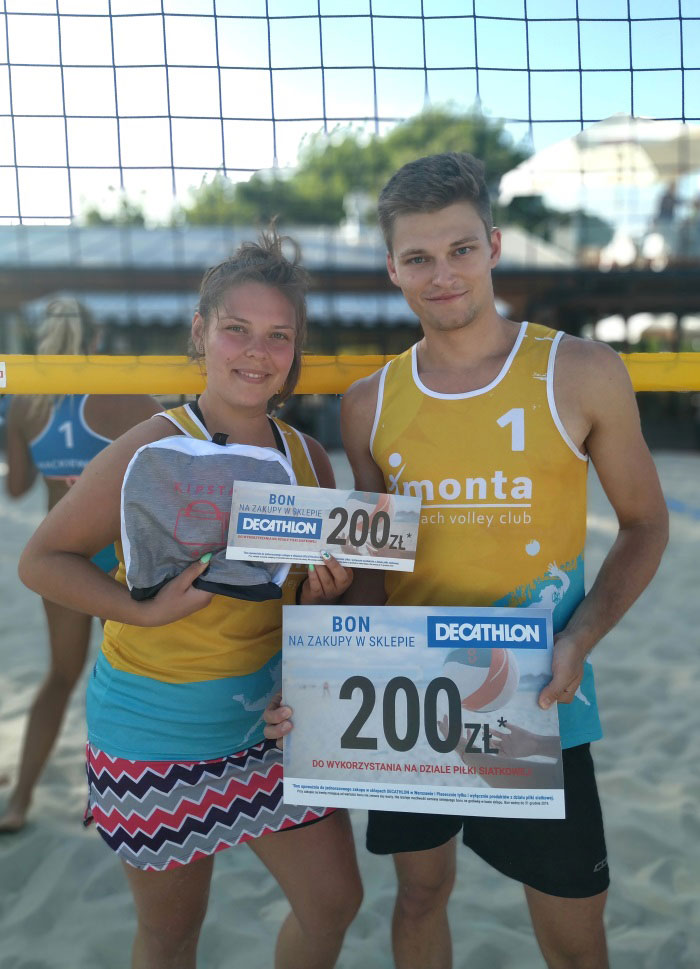 II Decathlon turniej mixtow monta beach volleyball club wrobel gryziak